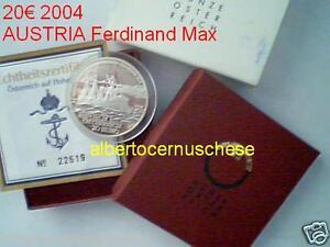 20 euro 2004 Ag Austria Autriche Österreich SMS Erzherzog Ferdinand Max Австрия