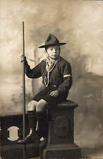 Rochdale Studio Photo. Boy Scout by F.S. Bain, Studio, The Walk, Rochdale.