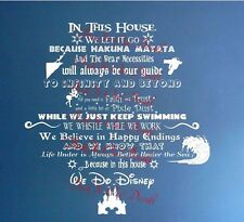 In this house We do Disney frozen toy story jungle book tinkerbell vinyl decal