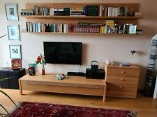 Wohnzimmer, Schrankwand, Buche, bestehend aus 3 Elementen,