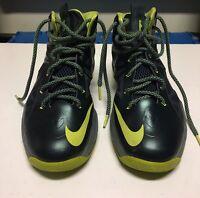 "Nike Lebron 10 GS Size 6Y ""Seaweed"" Basketball Shoes"