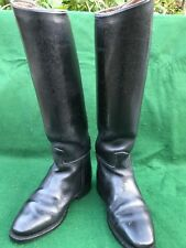Cavello Black Leather Riding Boots, Size 4 UK 37 EU Slim Leg