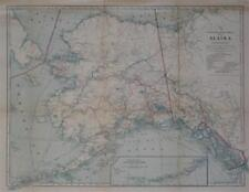 1914 Postal Route Telegraph Map ALASKA YUKON Coal Mines