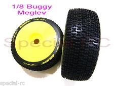 Louise Rc 1/8 Meglev L-T3100Sw Soft (2pcs) w/ White Dish Wheel Premounted