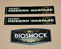 2 x CALL OF DUTY COD MODERN WARFARE 2 + 1 Bioschock Collection promo Sticker