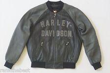 Harley Davidson Men's 100th Anniversary Black Leather Jacket 97402-03VM M Rare
