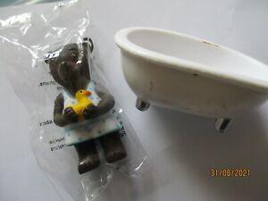 "Figurine Petit ours Brun  "" Bain "" Neuf sous blister"