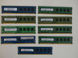 Job Lot of DDR3 4GB Desktop RAM 10600U (9 Pieces)
