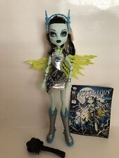 Mattel Monster High Frankie Stein Voltageous Doll Target W/ Outfit Book & Brush