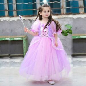 Children's Christmas Rapunzel Dress The Tangled Cosplay Costumes