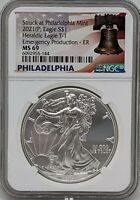 2021 P Silver American Eagle NGC MS69 Emergency Production Early Releases
