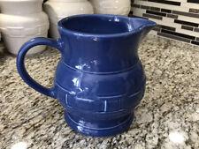 *Longaberger Pottery Woven Traditions Cornflower Blue Large Milk 2 Qt Pitcher*