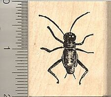 realistic Cricket rubber stamp C6315 wood mounted