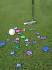 Golf ball markers tie dye colors set of 8 hand made with polymer clay
