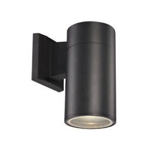 Trans Globe LED-50021 BK Compact 1Light Black Integrated LED Wall Lantern Sconce