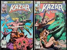 Ka-Zar The Savage 3 & 4 a lot of 2 vfn 1981 Modern Age Marvel Comics ft SHANNA