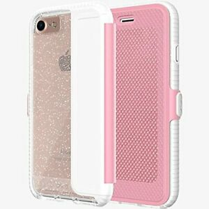 Tech21 iPhone SE 2nd Gen (2020) Evo Wallet Active Edition Flip Case Cover Pink