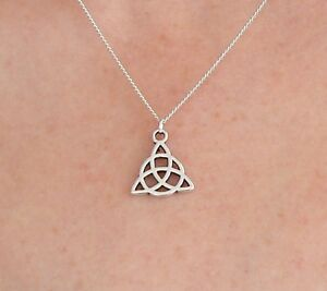 Charmed Power of Three Triquetra Necklace Pru Piper Phoebe Paige CosPlay Gift