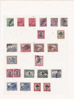 south africa used stamps on 2 pages ref r8555
