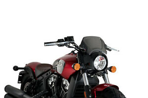 PUIG ALUMINIUM FRONTAL PLATE FOR INDIAN SCOUT BOBBER 2019 BLACK