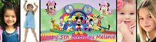 Large Mickie Mouse Clubhouse Themed Birthday Banner Bespoke to your needs 4 foot