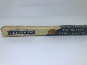 Vintage Fletcher Hard Bronze Bearing Glass Cutter Gold Tip