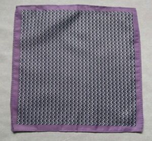 Mens Vintage Hankie Handkerchief Retro Pocket Square Geometric PURPLE