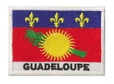 Patch insigne écusson patche drapeau GUADELOUPE 70 x 45 mm coudre Nation