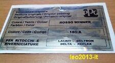 Lancia delta hf integrale 16 valvole evo 1 adesivo colore ppg rosso winner 180A