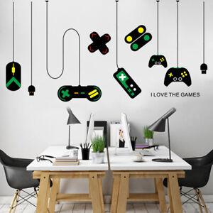 DIY Gamepad Wall Sticker Art Decal Gaming Room Background Kid Boys Bedroom Decor