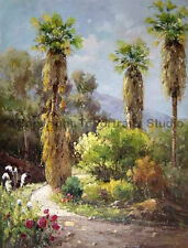 """Original Forest Path Scenery Hand Painted Oil Painting on Canvas Art, 26"""" x 34"""""""