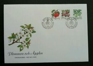 [SJ] Sweden Berries And Fruits 1994 Plant Food (stamp FDC)