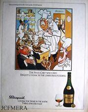 BISQUIT Cognac 'The Sous-Chef' Advert: Jensen after Bateman Series 1980 Print AD