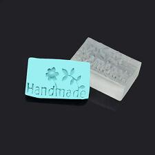 Flower Handmade Pattern Resin Stamp Soap Mould Seal DIY Handmade Soap Craft Tool