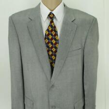 46 R Emanuel Ungaro Gray Poly Rayon Tweed 2B Mens Jacket Sport Coat Blazer Mint