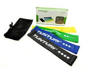 TunTuri Mini Resistance Band Set of 4 - Fitness Exercise Rubber Latex