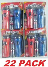EveReady LED Flashlight with batteries Camping light (11 PACKS, 22 Flashlights)