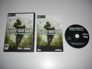 CALL OF DUTY 4 MODERN WARFARE Pc DVD Rom COD4 COD - FAST POST