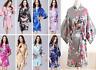 Women robe Silk Satin Robes Bridal Wedding Bridesmaid Bride Gown kimono robe*^