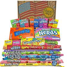 American Wonka Candy Hamper | USA Sweets Gobstopper Nerds Laffy Taffy | Gift Box