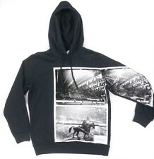 NEW CALVIN KLEIN JEANS ANDY WARHOL BLACK TEXTURED RODEO HOODIE SWEATER SIZE 2XL