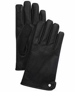 Calvin Klein Men's Gloves Black Size XL Faux Leather Touch Screen $55 #526