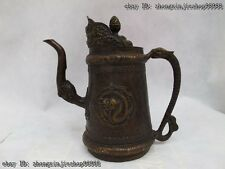 Tibet classical Bronze Copper Dragon mouth wine teapot Pot flagon