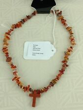 NECKLACE RED AGATE .