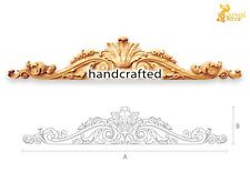 Fabric carved wood appliques for mantel (10 pc.)