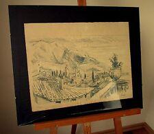 Alte Zeichnung Grafik Federzeichnung Landschaft Österreich Tirol Josef Prantl
