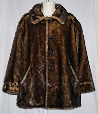 Braetan Faux Fur Jacket Reversable Women's Size X-Large EUC