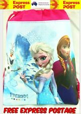 New Frozen Children Kids Drawstring Backpack School Swimming Bag Sleeve Hand.