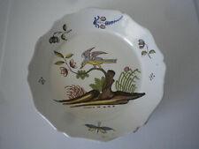 Ancienne Assiette La Rochelle Nevers décor oiseau