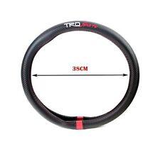 TRD Sports Steering Wheel Cover Carbon Fiber Decal 15'' For Rav4 Tacoma 4Runner